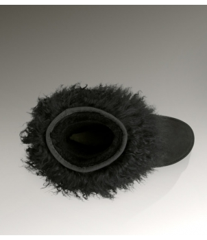 Short Sheepskin Cuff Black 1875
